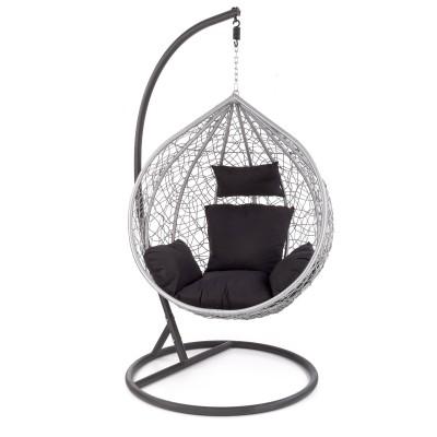 EGGY fotel ogrodowy popielaty / czarny (3p1szt)