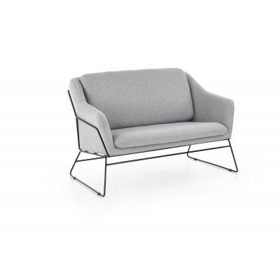 SOFT 2 XL fotel wypoczynkowy podwójny czarny stelaż, jasny popiel (1p1szt)