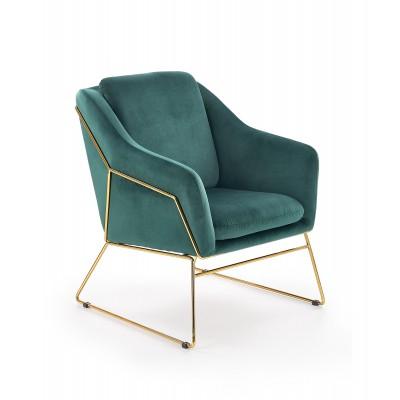 SOFT 3 fotel wypoczynkowy złoty stelaż, ciemny zielony (1p1szt)