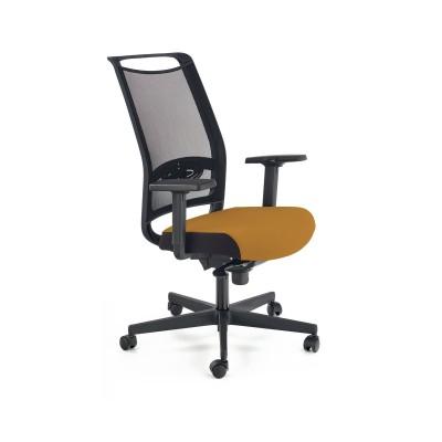 GULIETTA fotel gabinetowy, oparcie - siatka, siedzisko - czarny / musztardowy - ERF3005
