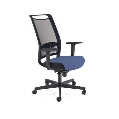 GULIETTA fotel gabinetowy, oparcie - siatka, siedzisko - czarny / niebieski - ERF6026