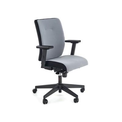 POP fotel pracowniczy, kolor: pasek boczny - czarny RN60999, front - popielaty M47