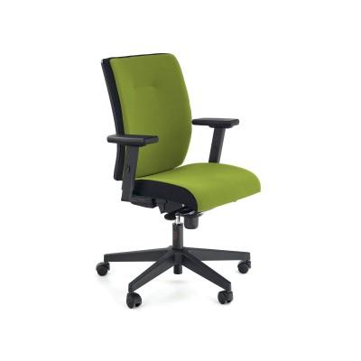 POP fotel pracowniczy, kolor: pasek boczny - czarny RN60999, front - zielony M38