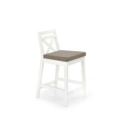 BORYS LOW krzesło barowe niskie biały / tap. Inari 23 (1p1szt)