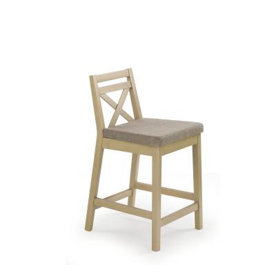 BORYS LOW krzesło barowe niskie dąb sonoma / tap. Inari 23 (1p1szt)