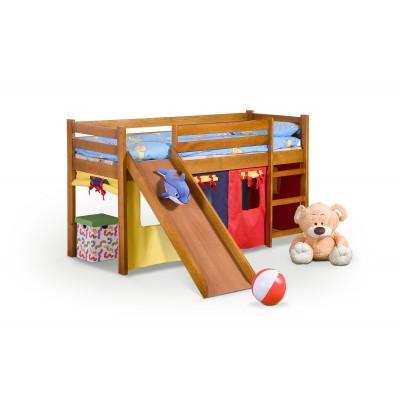 NEO PLUS - łóżko piętrowe ze zjeżdżalnią i materacem - olcha ( 4p1szt )
